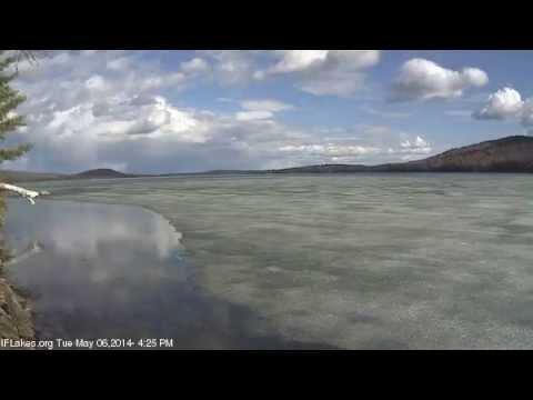 Pleasant Lake Ice Movement Timelapse - 5/6/2014