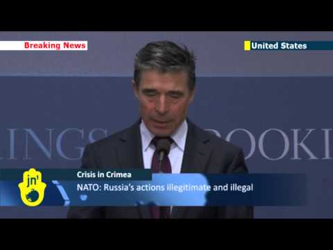 Putin's Crimean War: NATO chief condemns Russia's attempt to annex Crimea