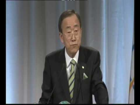 Ban Ki-moon Addressing the Olympic Congress in Copenhagen - 3 October 2009