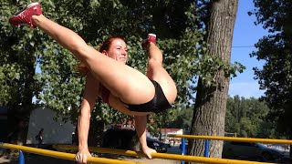 Awesome Street Workout girl / Female Fitness motivation
