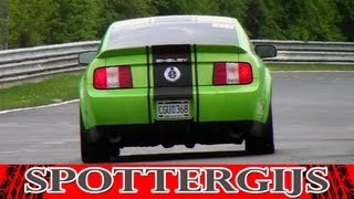 Ford Mustang Shelby GT 500 sound! Racing at the Nürburgring!
