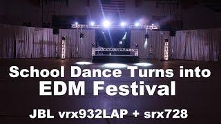 DJ GIG LOG 083 | Massive Homecoming | JBL vrx932lap srx728 | Large Trussing | EDM Style Concert