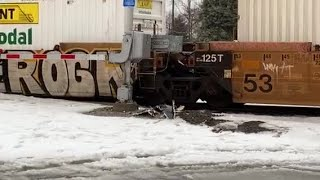 Scene video: Semi, train crash