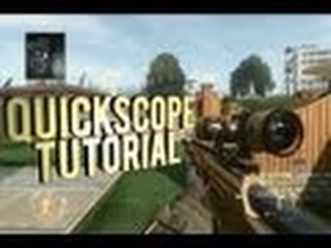 How to QUICK SCOPE in BLACK OPS 2 Tutorial
