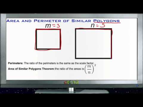 Area and Perimeter of Similar Polygons Principles - Basic
