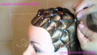 peinado de red y trenza en forma de corazon/hairstyle mains with links