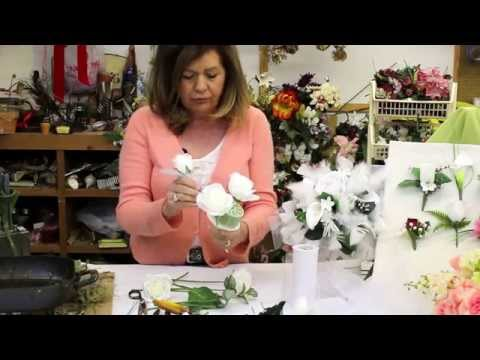 How to Make a Wedding Bouquet with Silk Flowers   Silk Flower Bouquet   Bridal Bouquet
