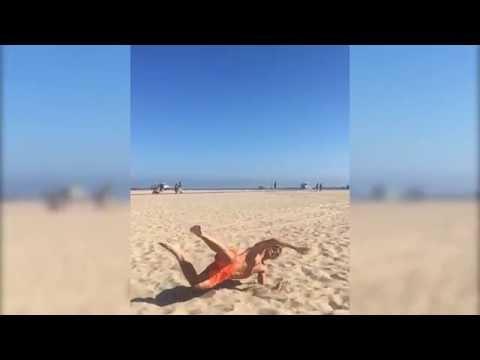 Le ciseau de Zlatan Ibrahimovic en slow motion sur la plage