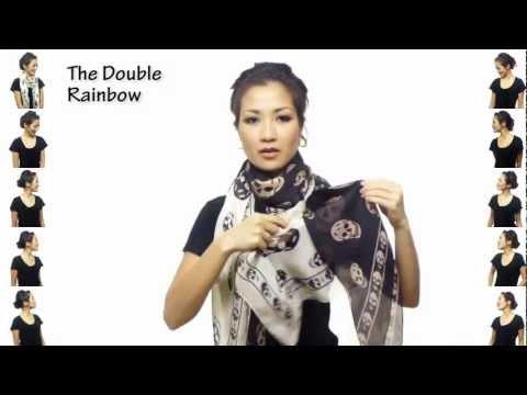 Видео как завязывать платок