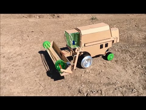 DIY Harvester from Cardboard