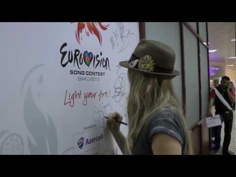 Eurovision 2012 Video Diary :  E26 Traveling To Baku - Soluna Samay