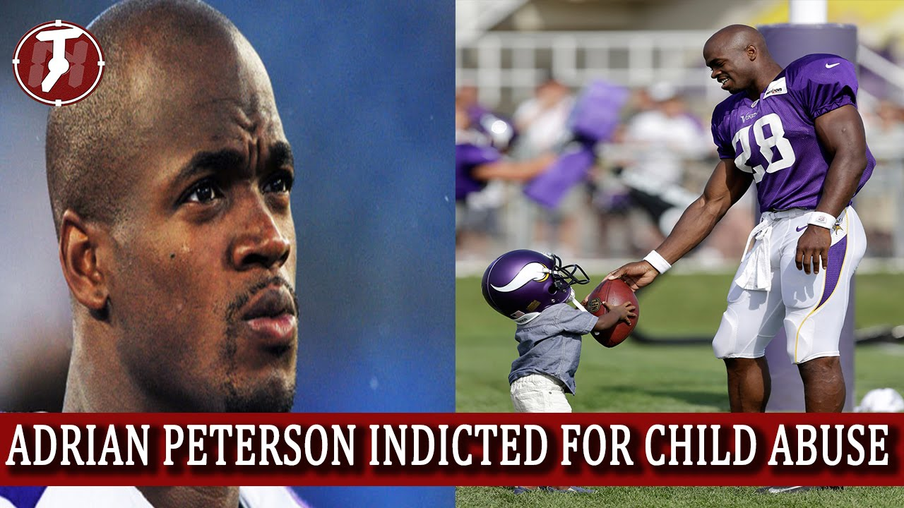Adrian peterson indicted for child abuse charges minnesota vikings