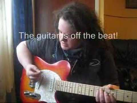 Reggae rhythm strumming guitar lesson Pt2