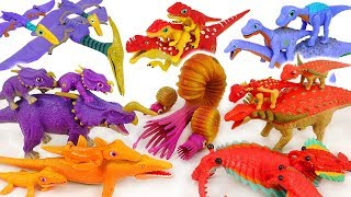 Go! Dino Mecard Double figure 28 set and Tiny dinosaur! Defeat the poachers! #DuDuPopTOY