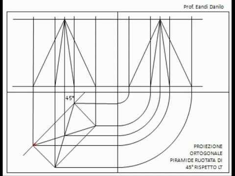 Proiezione ortogonale piramide ruotata di 45 rispetto lt for Costruzione di un pollaio su ruote
