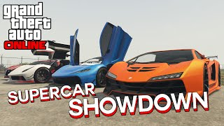 GTA 5 Super Car Showdown! Progen T20 vs ALL SUPER CARS! (ILL GOTTEN GAINS 2 DLC)