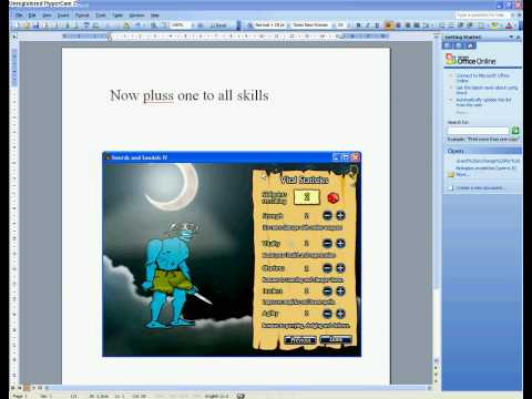 skill hack on swords and sandals 4 with cheat engine