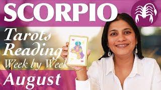 SCORPIO August 2019 Tarot reading forecast