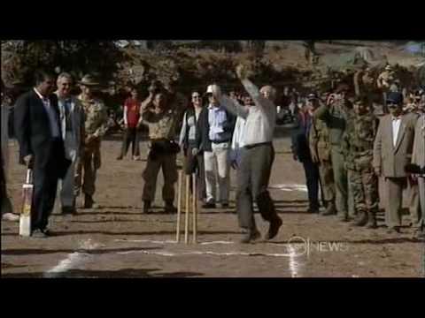 John Howard bowling