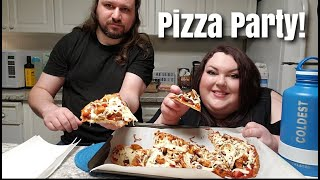 MAKING HOMEMADE PIZZA PARTY WITH PEETZ COOK AND MUKBANG!