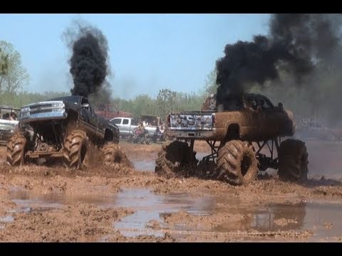 DUAL DIESEL CHEVY MEGATRUCKS BLOWS TURBO - TRUCKS GONE WILD!!