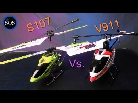 Syma S107G vs WLtoys V911 Helicopter