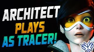 ARCHITECT PLAYS AS TRACER - 4244 SR! [ OVERWATCH SEASON 14 TOP 500 ]