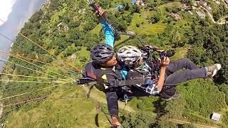 Paragliding Thermal flying Pokhara, Sarangkot Nepal Pilot-Subash 22th oct 2013 Takeoff