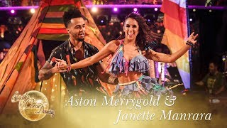 Aston Merrygold and Janette Manrara Salsa to