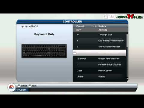 FIFA 13 Controls for keyboard