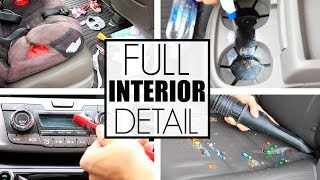 Car Interior Cleaning || Car Detailing The Mini Van || Cleaning Motivation