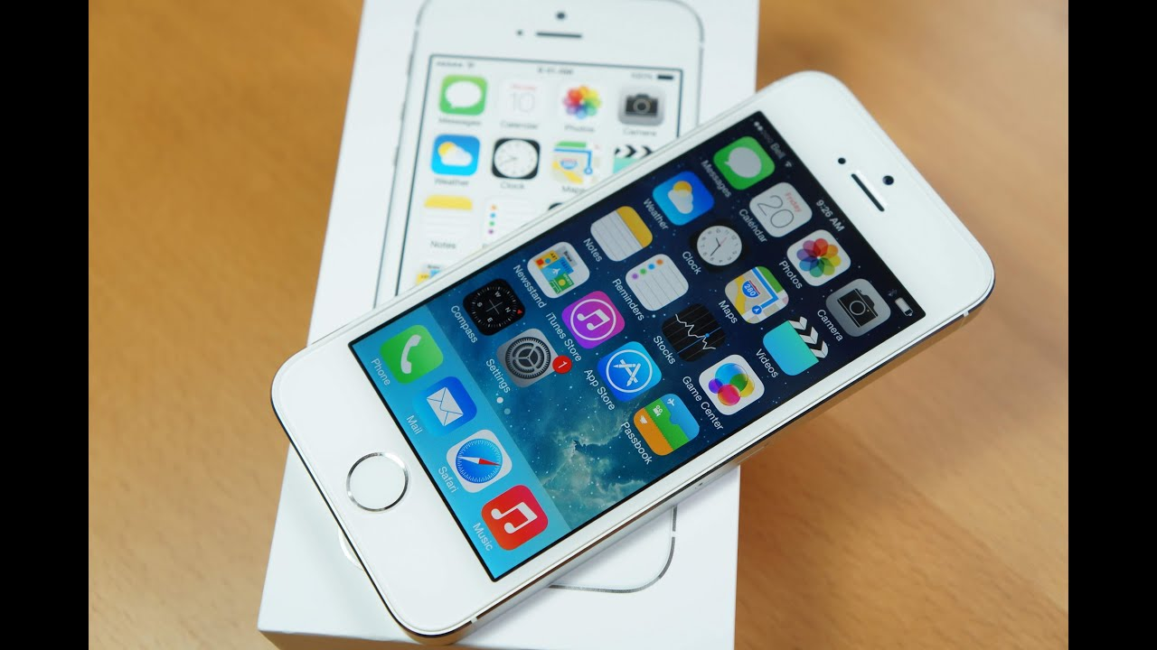 Iphone 5s white and silver