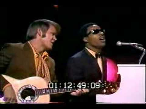 Glen Campbell and Stevie Wonder