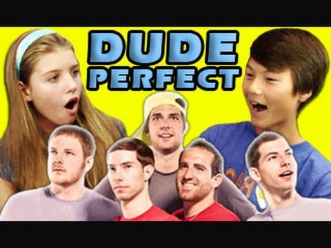 KIDS REACT TO DUDE PERFECT Music Videos