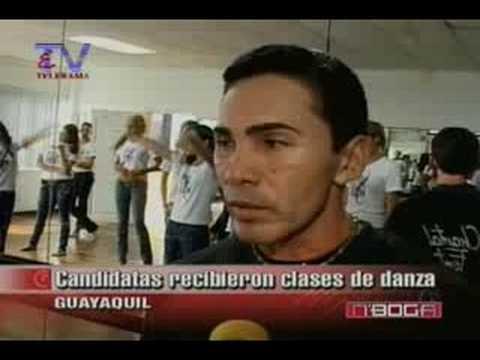 Candidatas recibieron clases de danza