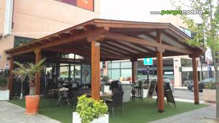 Garajes de madera pergomadera viyoutube for Caseta jardin ergo