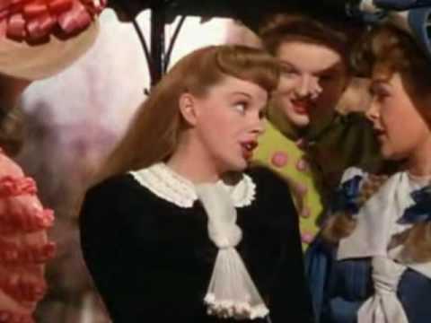 JUDY GARLAND: 'THE TROLLEY SONG'. A CLOSEUP.
