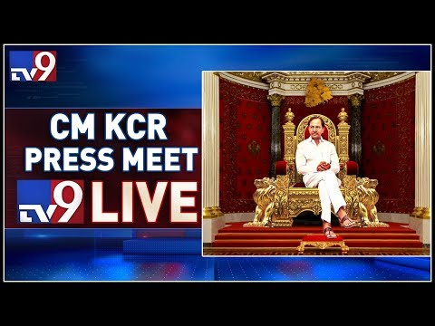 CM KCR Press Meet LIVE || TRS Bhavan - TV9