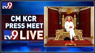 CM KCR Press Meet LIVE || TRS Bhavan