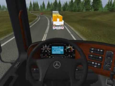 ETS Mercedes actros MP3 Berlin Stockholm part1
