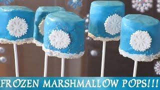 FROZEN Snowflake Marshmallow Pops! Inspired by Disney Frozen Movie