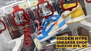 HIDDEN HYPE SNEAKER STORE IN FISHER MALL, QC!