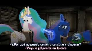 "MLP -  ""Two Best Sisters Play"" - Resident Evil 4 [Sub Español]"