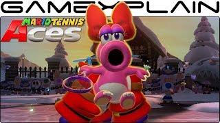 Mario Tennis Aces - Birdo Gameplay + Special Shot (October Tournament Unlockable Reward!)