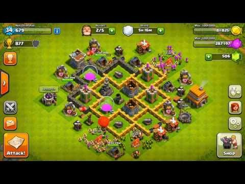 Clash of Clans - Best Town Hall 5 Defense! (Base Design)