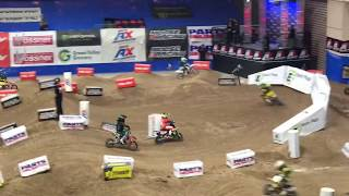 Luciano racing in the 2018 AMA Arenacross National Championship race in Las Vegas Nevada.