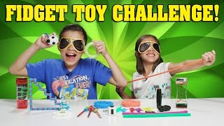 BLINDFOLDED FIDGET TOY CHALLENGE!!! Kids React to Fidget Toys!