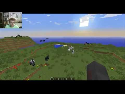 Amazing Horse Minecraft 1.6 Seed! Many Horses and a Saddle at Spawn!