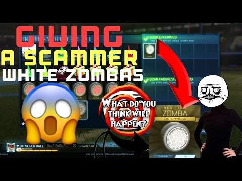 WHAT HAPPEN IF U GIVE A SCAMMER UR WHITE ZOMBAS?? ROCKET LEAGUE SOCIAL EXPERIMENT  **✅SH*T TALKING**