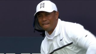 Tiger Woods full second round at the 2019 Open Championship